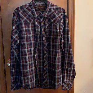 Men button down western shirt